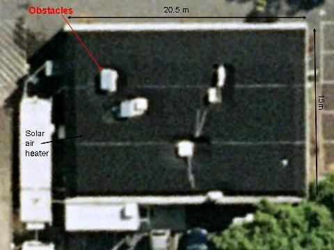 Satellite view of solar air heater